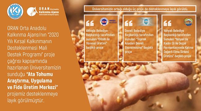 """Kayseri Üniversitesi Kırsal Kalkınma Kapsamında """"Ata Tohumlarını"""" Araştıracak"""