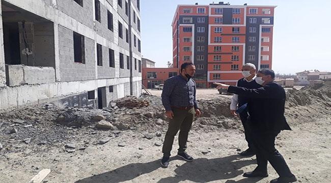 Başkan Halit Taşyapan, Kentsel Dönüşüm Binalarında İncelemelerde Bulundu