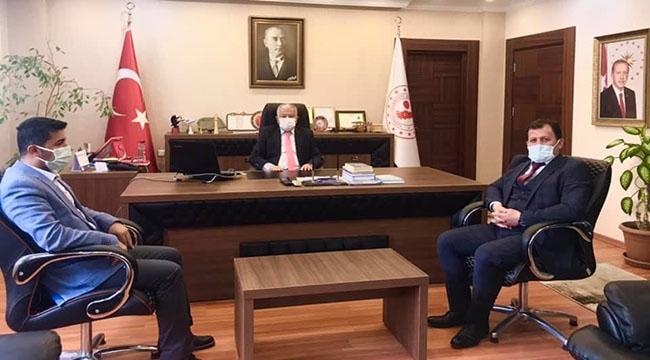 Gençlik ve Spor İl Müdürü Kabakcı'dan Kaymakam Murat Duruya ziyaret