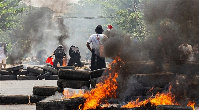 Myanmar ordusu Bago'da protestoculara ateş açtı: 80 ölü