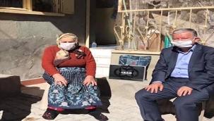 Kaymakam Murat Duru'dan 101 Yaşındaki Asırlık Naciye Çelikkanat'a Ziyaret