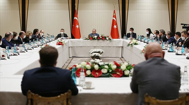 Cumhurbaşkanı Erdoğan, Müsilaj toplantısına katıldı