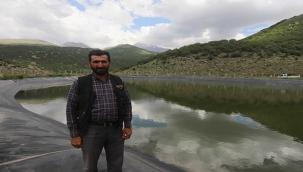 Erciyes'in Kar Suları 4 Göletle Hayvanlara Ulaşıyor