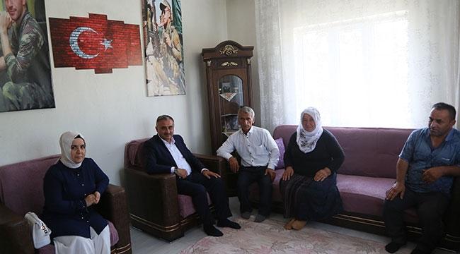 Başkan Cabbar'dan Şehit Ailelerine Bayram Ziyareti