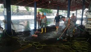 Kurban Kesim Yerleri Temizlenerek Dezenfekte Ediliyor