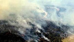 Kavaklıdere'deki yangında 3'üncü gün