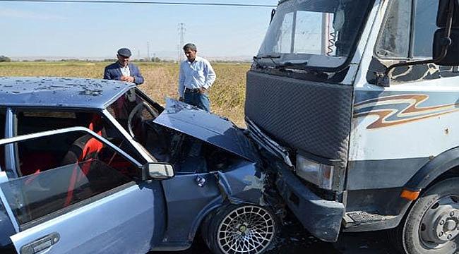 Aksaray'daki trafik kazasında 3'ü çocuk, 9 yaralı
