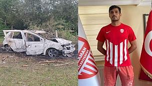 Samsun'da amatör futbolcu, yanan aracında ölü bulundu