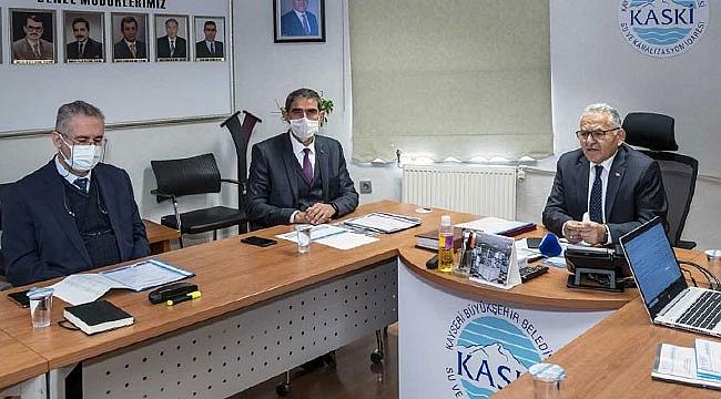 Başkan Memduh Büyükkılıç, KASKİ yöneticileriyle bir araya geldi