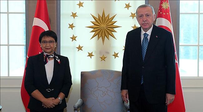 Erdoğan, Endonezya Dışişleri Bakanını kabul etti