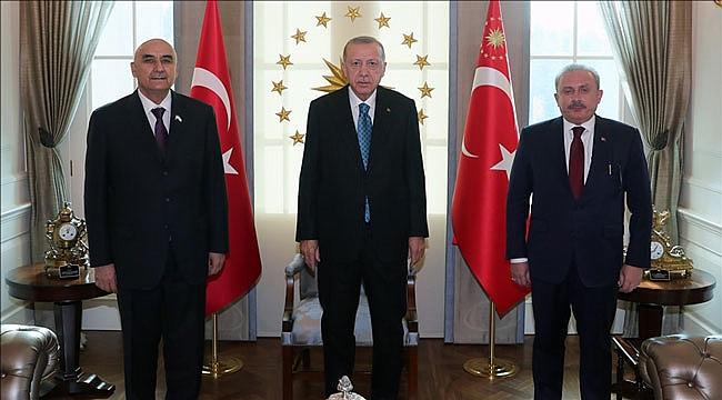 Erdoğan, Tacikistan Meclis Başkanı'nı kabul etti
