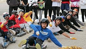 Kızakçılar asfaltta