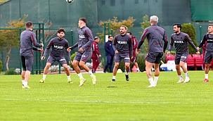 Trabzonspor Göztepe hazırlıklarını sürdürdü