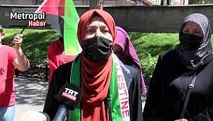 Kayseri'de, İsrail'in Mescid-i Aksa'ya saldırılarına tepki